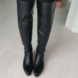 New Leather 7.5 Franco Sarto Over-The-Knee Boots